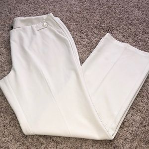 NWOT Cream Slacks with Pearl Accents